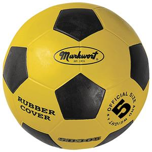 Markwort Yellow & Black Rubber Cover Soccer Balls