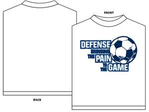 Bring the pain soccer tshirt gift