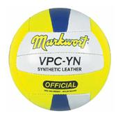 Markwort Yellow/Navy Synthetic Leather Volleyballs