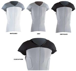 HexPad Cap Sleeve 6-Pad Body Sports Shirts