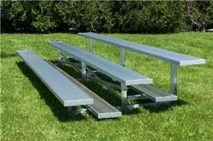 NRS 3 Row Non Elevated Galvanized Bleachers