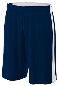 A4 Adult Reversible Moisture Management Shorts