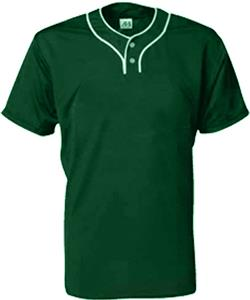 A4 2-Button Stretch Mesh Baseball Jerseys