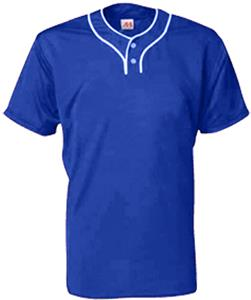 A4 Youth 2-Button Stretch Mesh Baseball Jersey CO