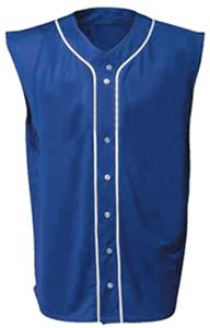 A4 Sleeveless Full Button Baseball Jerseys