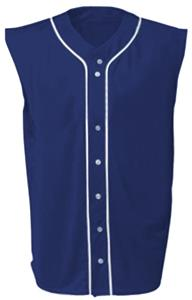 A4 Youth Sleeveless Full Button Baseball Jersey CO