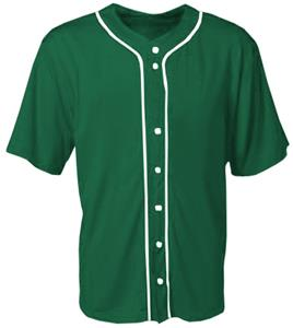 A4 Adult Short Sleeve Full Button Baseball Jerseys
