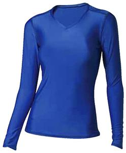 A4 Womens Long Sleeve Compression V-Neck Shirts