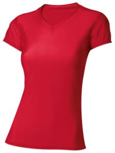 A4 Womens Short Sleeve Compression V-Neck
