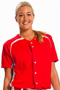 A4 Womens Full Button Power Mesh Softball Jersey
