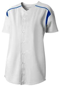 A4 Womens Full Button S/S Knit Softball Jerseys