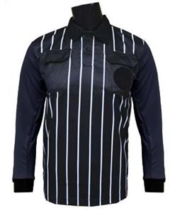 Official Soccer Referee Jerseys- LONG Sleeve-BLACK