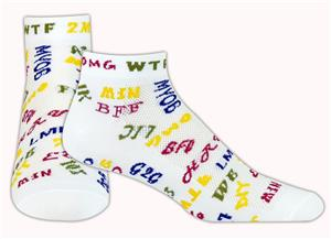 "Red Lion ""Text Me"" Low Cut Athletic Socks"