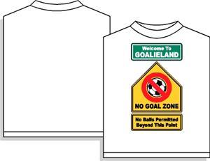 Goalieland soccer tshirt