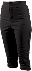 Teamwork Womens 2-Snap Elastic Waist Softball Pant