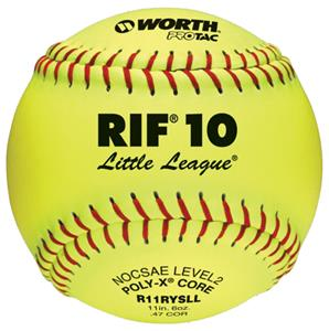 "Worth 11"" RIF 10 Little League Fastpitch Softballs"