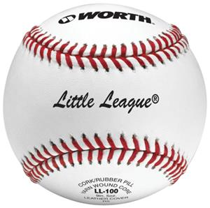 "Worth 9"" Little League Pro Alum Leather Baseballs"