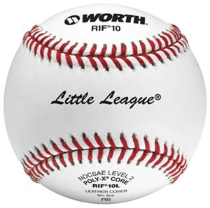 "Worth 9"" RIF 10 Little League Leather Baseballs"