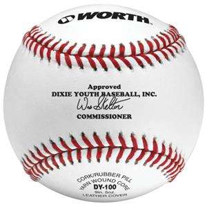 "Worth 9"" Dixie Youth Baseball Leather Baseballs"