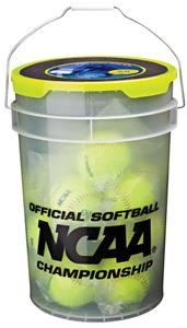 Worth NCAA 6 Gallon Bucket of NC12BB Softballs