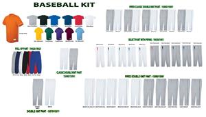 Rush Two-Button Baseball Jerseys Uniform Kits