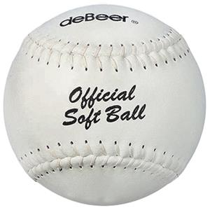 "deBeer 16"" Specialty Flat Seam Leather Softballs"