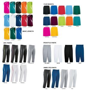 Womens Wave Sleeveless Softball Jersey Uniform Kit