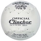 "DeBeer 12"" Specialty Gold Clincher Softballs 6 pk"