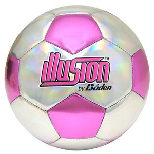 Baden Illusion Pink/Silver Soccer Balls Closeout