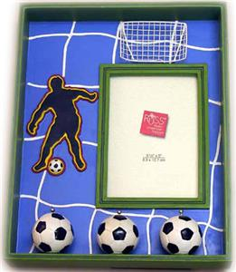 Picture Frame w/Soccer Balls  CLOSEOUT