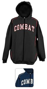 Combat Full  Zip Cotton/Poly Sweatshirt Jacket