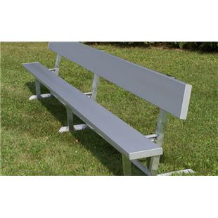 Portable Aluminum or Galvanized Benches w/Backrest