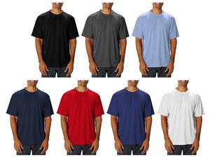 Blue Generation Men&#39;s SS Wicking Crew Neck T-Shirt
