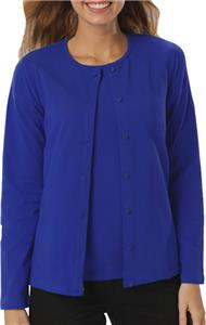 Blue Generation Ladies LS Button Front Cardigans