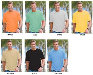 Mens Crew Neck UV Resistant Bamboo Tees Shirt