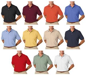 Blue Generations Men&#39;s SS Pima Cotton Polo Shirts