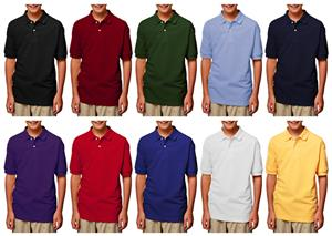 Blue Generation Youth SS Pique Polo Shirts