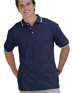 Blue Generation SS Collar/Cuff Pique Polo Shirts