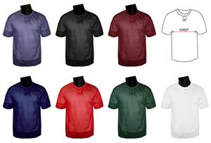 Fabnit 2 Button Henley Poly Mesh Baseball Jerseys