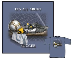 It's All About Soccer-Blue soccer tshirts