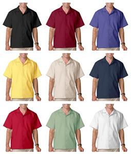 Blue Generation Men's SS Poplin Camp Shirts