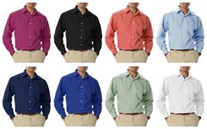 Blue Generation Men's LS Stretch Poplin Shirts