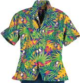 Blue Generation Adult Tucan Print Camp Shirts