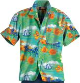 Blue Generation Adult Tropic Print Camp Shirts