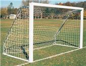 6.5 x 18 x 2 x 6.5 White Rd or Sq Soccer Goals