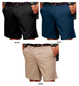 Blue Generation Men&#39;s Flat Front Twill Shorts