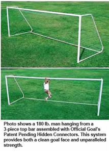 PROFESSIONAL Alum Posts Soccer Goals 6.5'x12'  EA