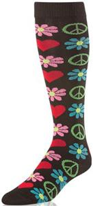Twin City Krazisox Flowers/Peace Socks