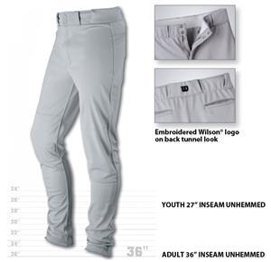 Wilson Pro T3 Premium Unhemmed Baseball Pants