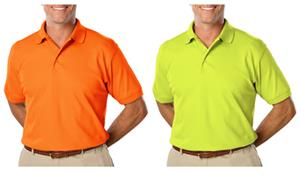 Blue Generation Men&#39;s SS High Visibility Polo